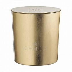 CAND.200GR D.9 H.9 CM FOGLIA ORO FRAG. LIMONE E ZENZERO 35OR