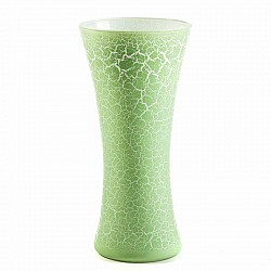 VERDE MELA VASO PATTY D 18 H 37 WHITE CRACKLET