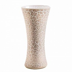 MELBA SCURO VASO PATTY D 18 H 37 WHITE CRACKLET