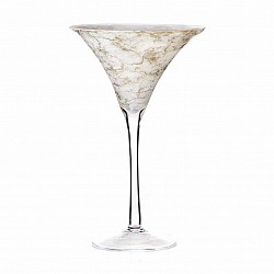 ORO VASO MARTINI H 40 D. 25  WEDDING MARBLE