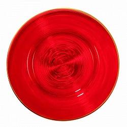 ROSSO BAROCCO PIATTO CIRCLE GRANDE D 32,5 H 1,5 CM LOS ANGEL